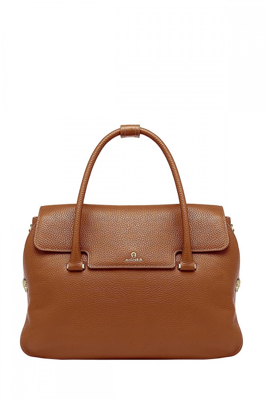 Aigner Damen Handtasche Milano L Braun