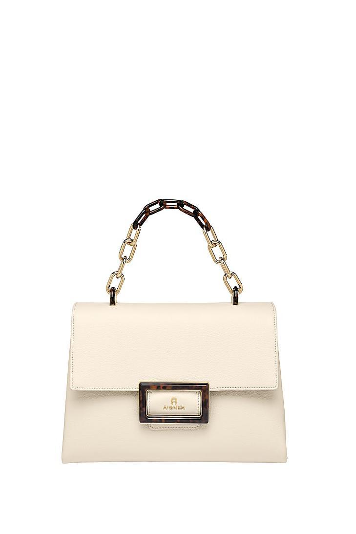 Aigner Damen Handtasche Vicenza M Antique White