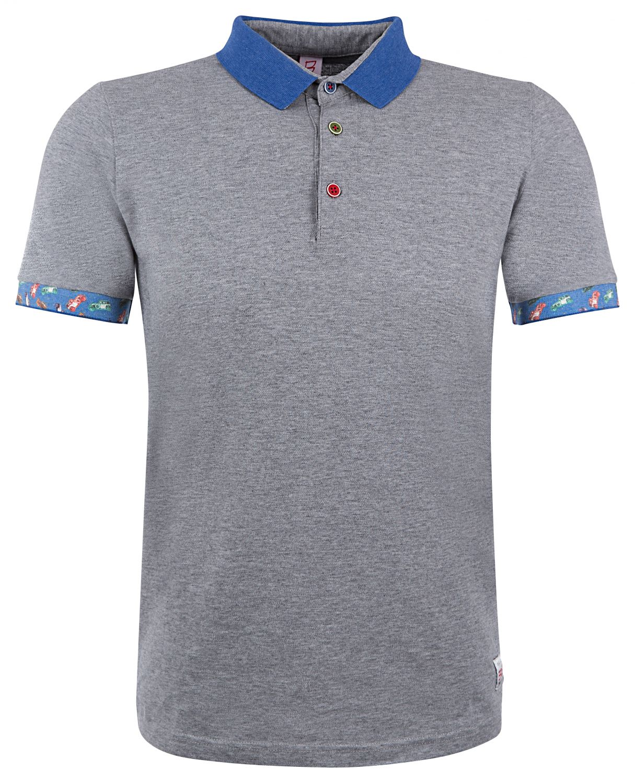 "BOB Herren Poloshirt ""Reef"" Grigio Melange"
