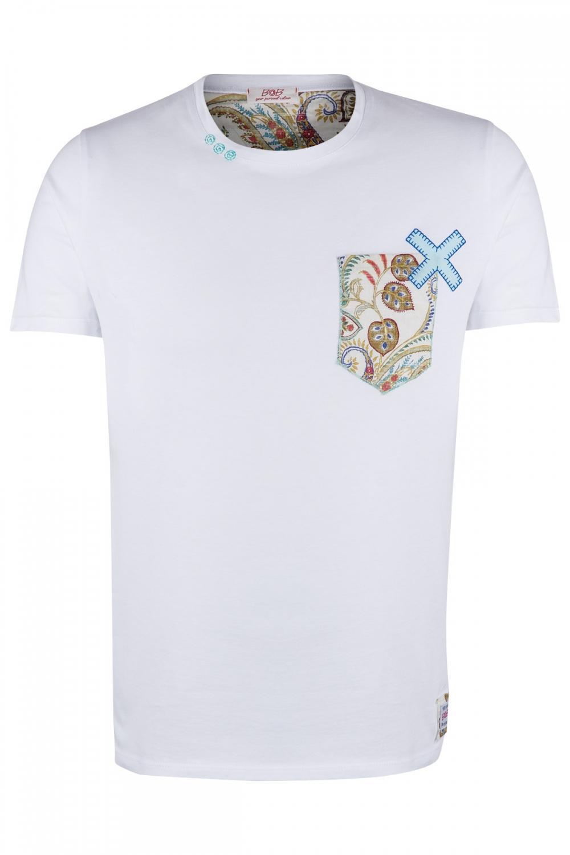 BOB Herren T-Shirt Pock Weiss
