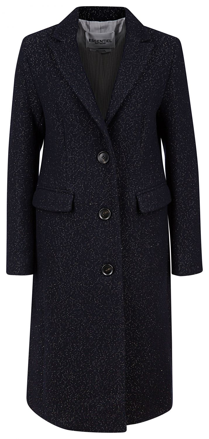 "Essentiel Antwerp Damen Wollmantel ""Ramanas"" Navy"