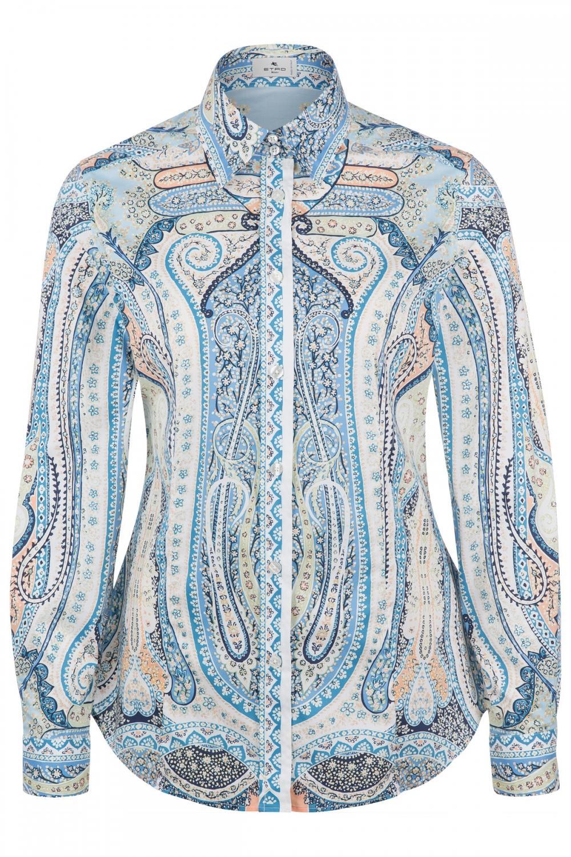 Etro Damen Bluse mit Print Blau
