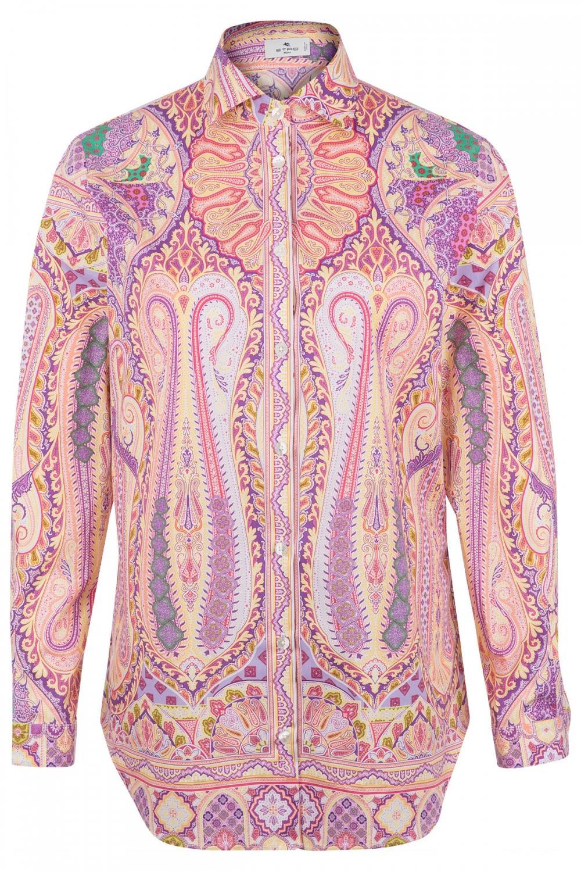 Etro Damen Bluse mit Print Pink