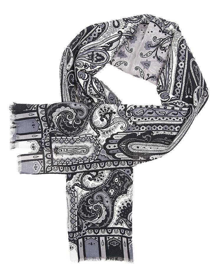 Etro Modeschal mit Paisleymuster Grau