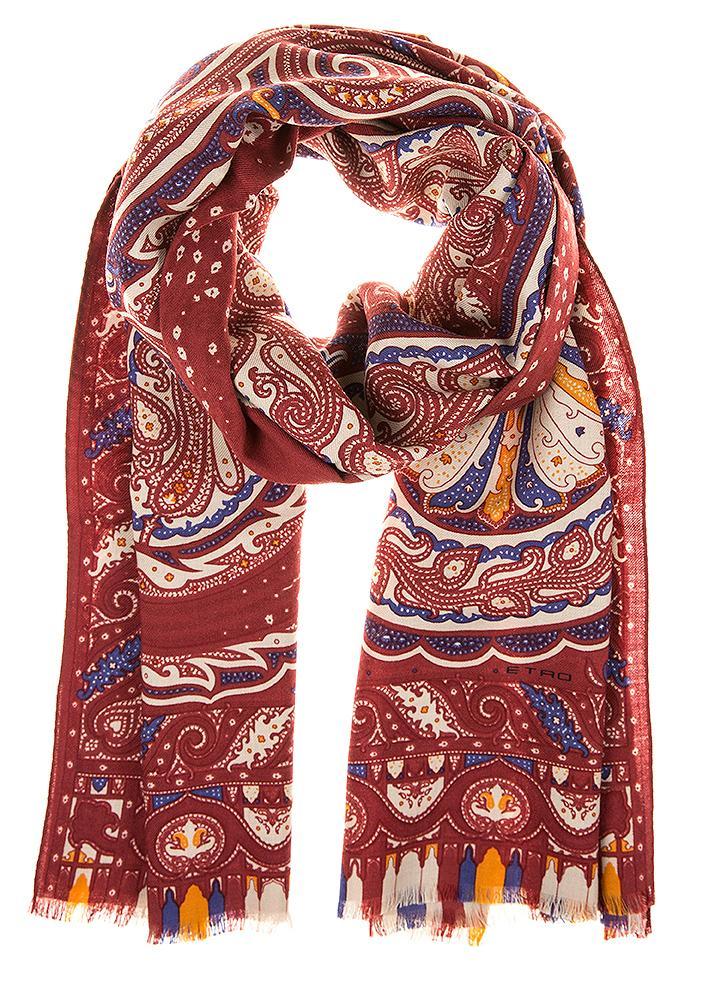 Etro Schal mit Paisleymuster Rot