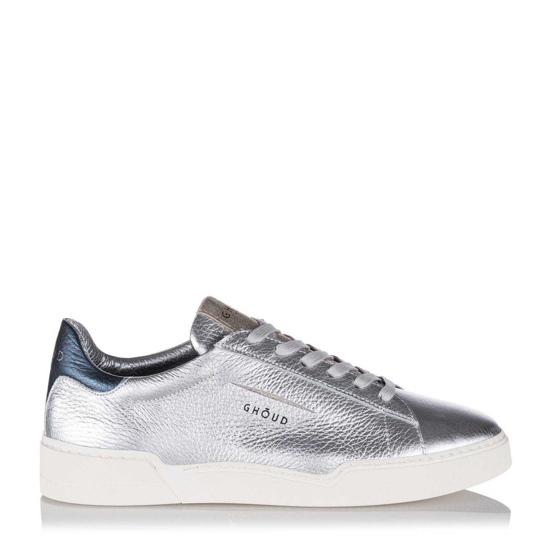 buy popular 103be d6a66 Ghoud Damen Ledersneaker mit Silberbeschichtung Silber