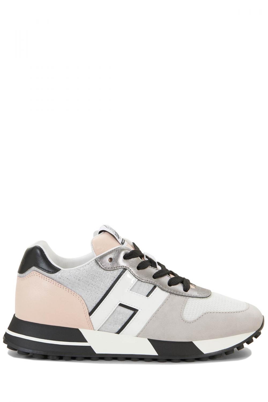 Hogan Damen Sneaker H383 Allacciato Pelle Grau