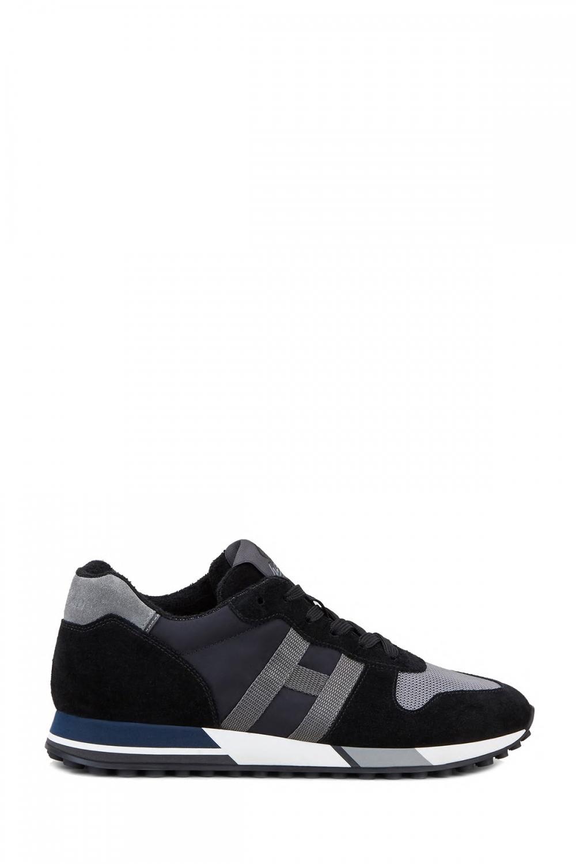 Hogan Herren Sneaker H383 Schwarz/Grau