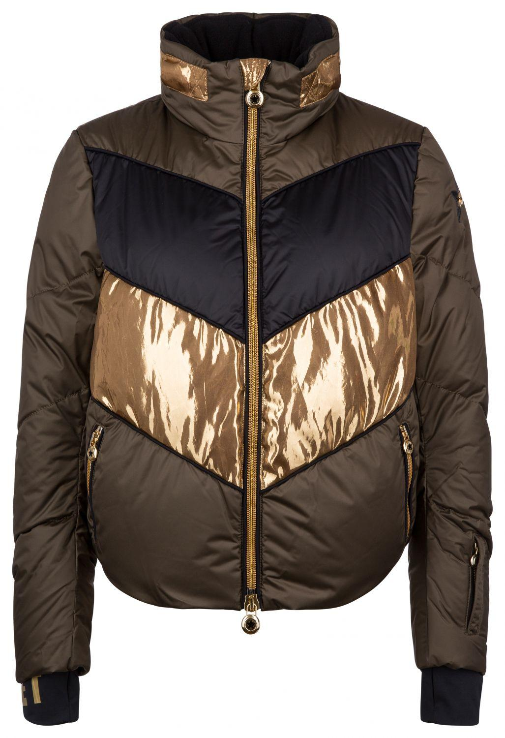 "Jet Set Damen Skijacke ""Harper Chic"" Army Gold"