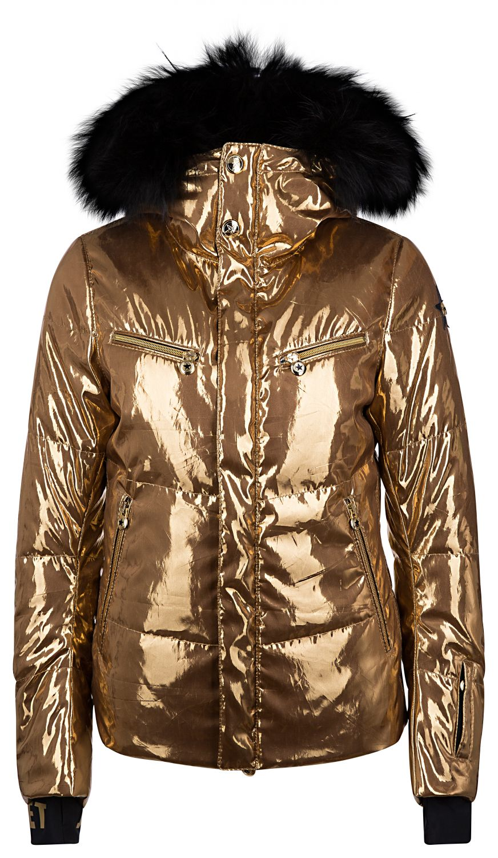 "Jet Set Damen Skijacke ""Liv Glam Fur"" Gold"