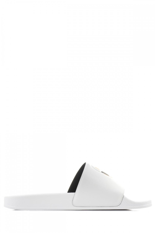 Karl Lagerfeld Damen Pantolette Kondo II Ikonic Slide Weiss