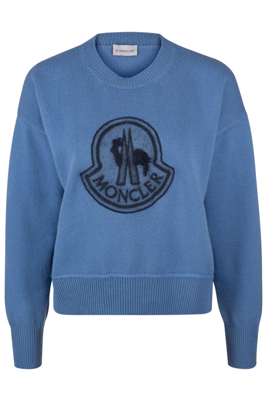 new products 3b7ae ebbdb Moncler Damen Strickpullover Blau