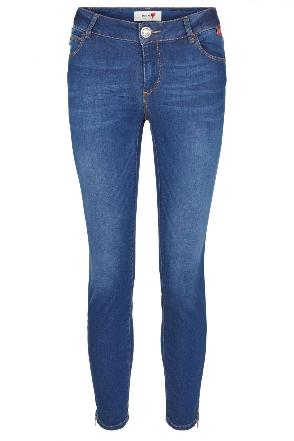 Mos Mosh Damen Jeans Victoria Sateen Blue Denim
