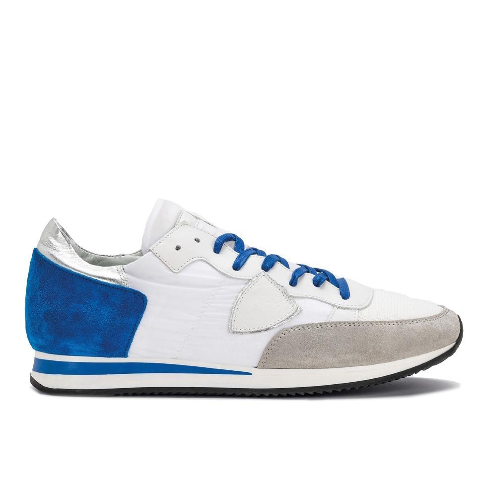 9d4b3068bf47a Philippe Model Herren Sneaker Tropez Mondial Blau Weiss