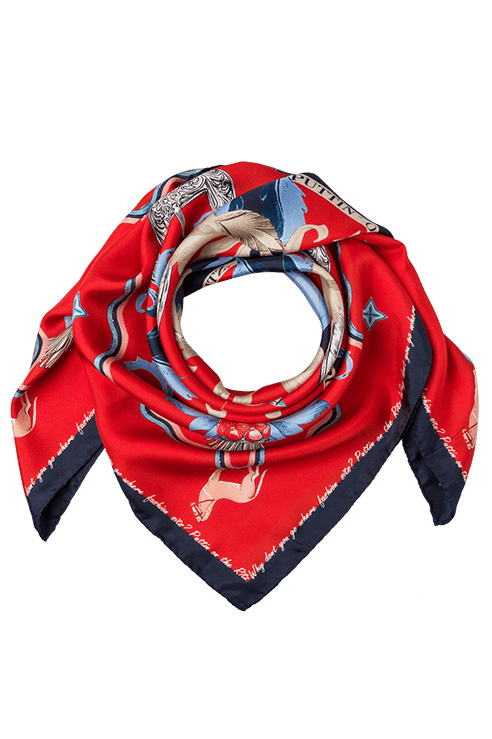 Riani Damen Halstuch aus Seide Rot