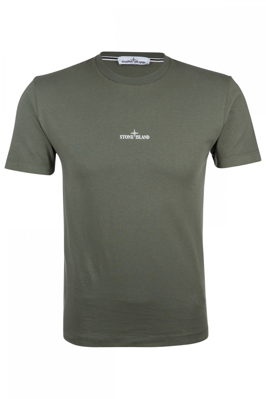 Stone Island Herren Logo T-Shirt Olive