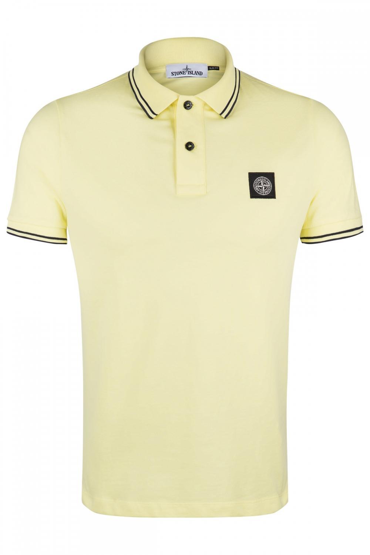 Stone Island Herren Poloshirt Gelb