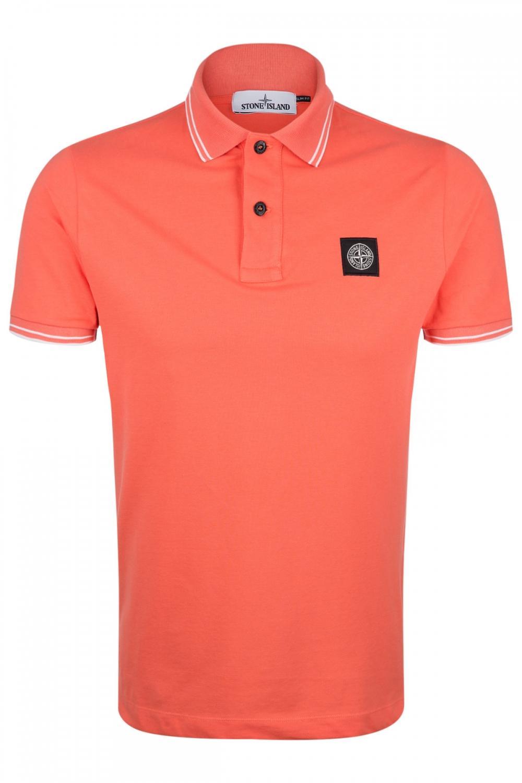 Stone Island Herren Poloshirt Orange