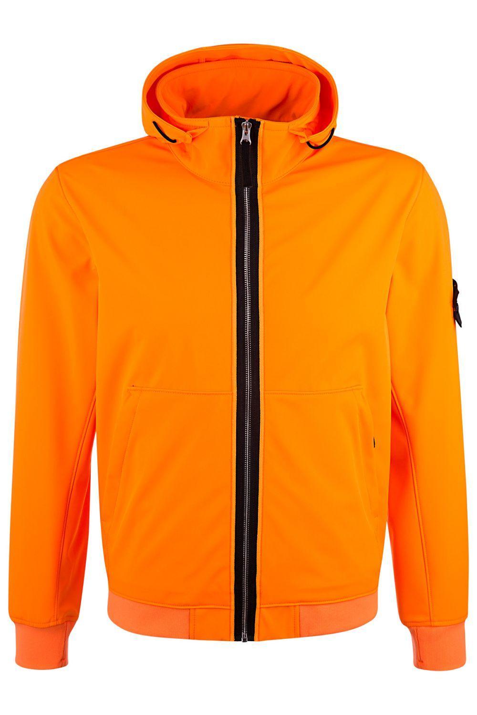 Stone Island Herren Softshelljacke Light Soft Shell-R Orange