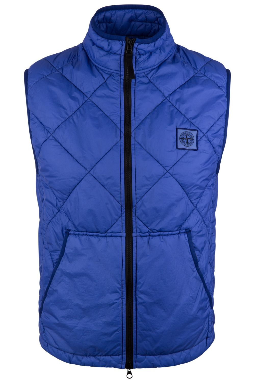 Stone Island Herren Steppweste Garment Dyed Quilted Micro Yarn Blau