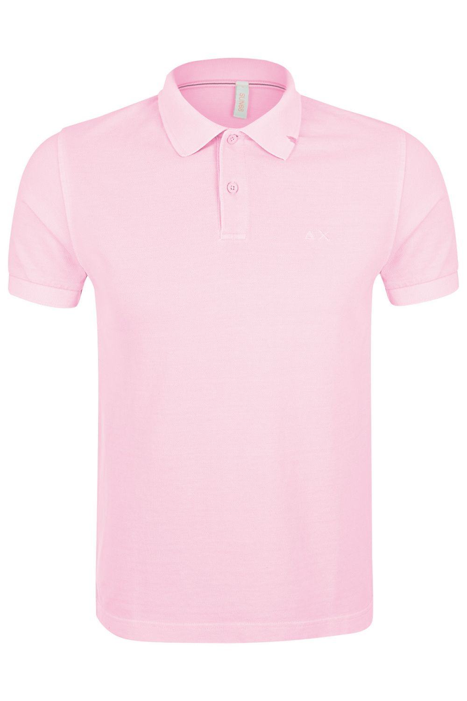 best website 1f422 0b096 SUN68 Herren Poloshirt Cold Dye Rosa