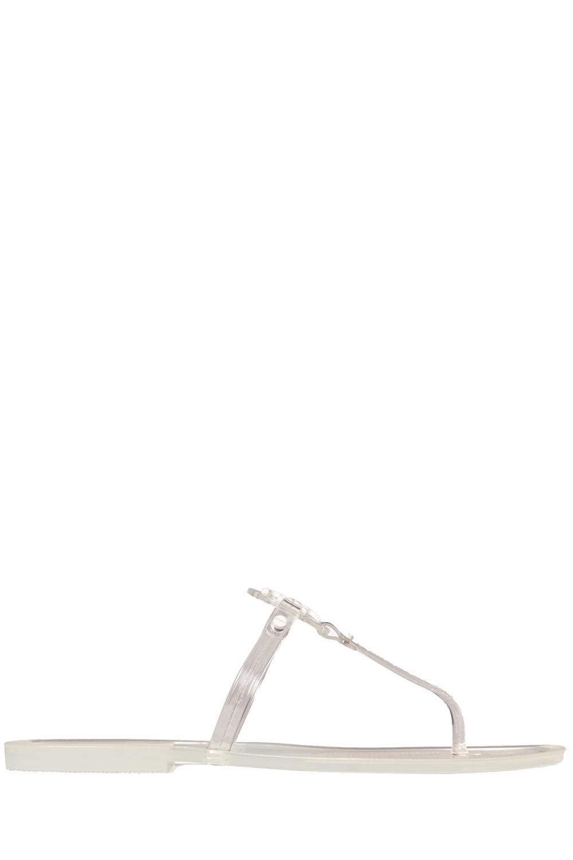 Tory Burch Damen Sandale Mini Miller Flat Thong-Tpu Transparent