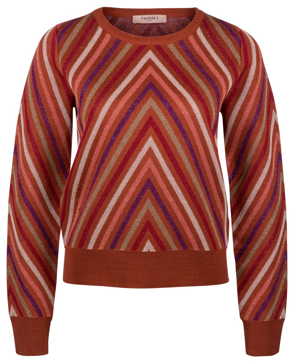 Twin Set Damen Strickpullover Bronze