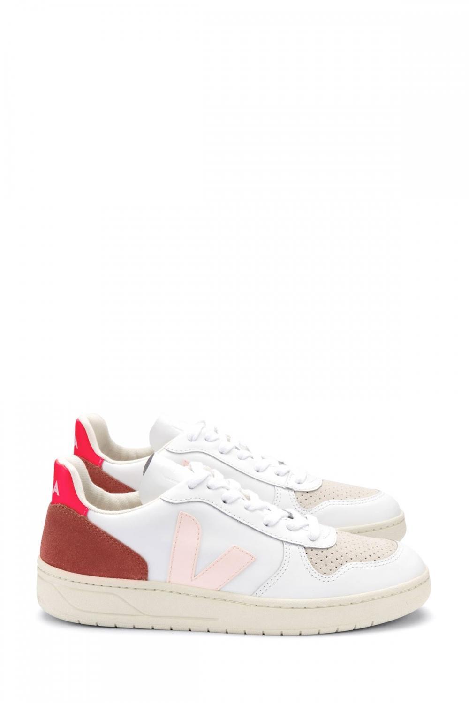 Veja Damen Sneaker Fluo Weiss