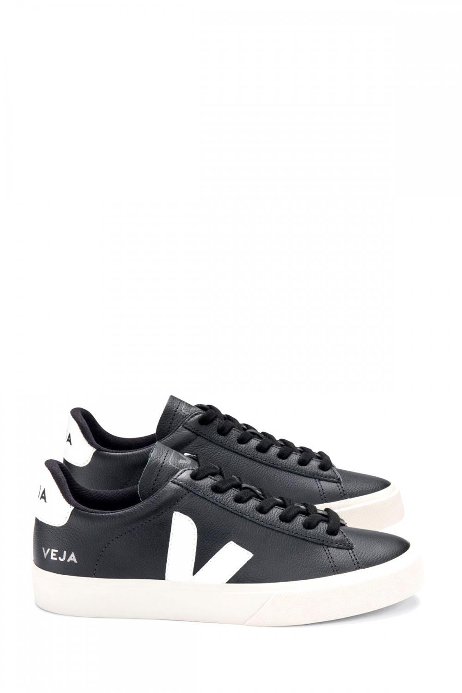 Veja Herren Sneaker Campo Chromefree Black