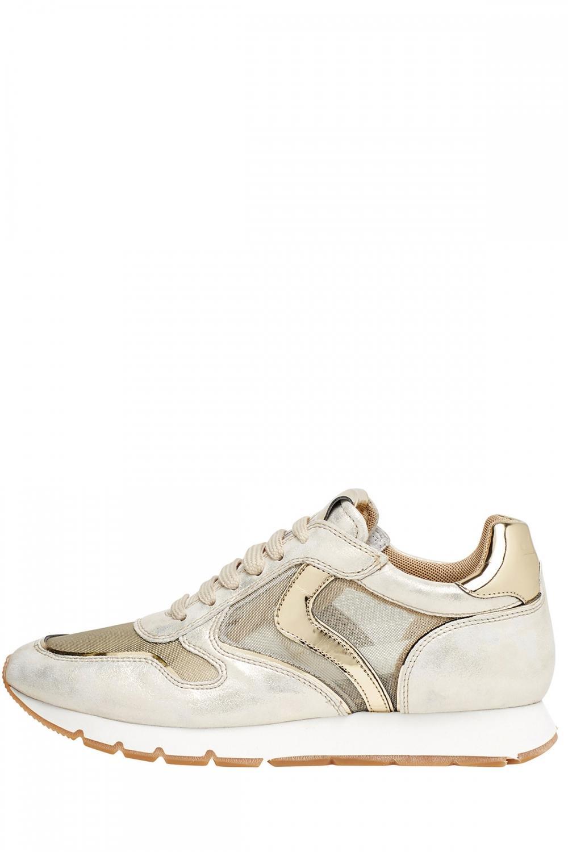 Voile Blanche Damen Sneaker Julia Mesh Silber/Gold