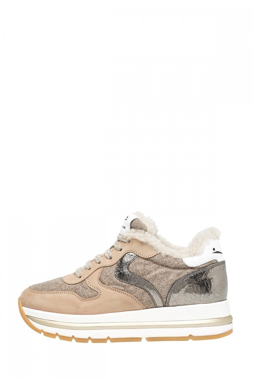 Voile Blanche Damen Sneaker Maran Fur Beige