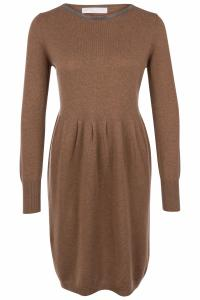 Damen Strickkleid Cognac