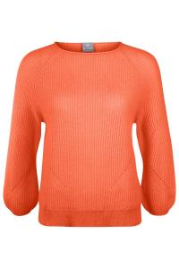 Damen Kaschmirpullover Orange