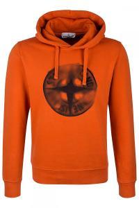 Herren Hoodie Natur Orange