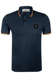 Herren Piqué Poloshirt Marineblau