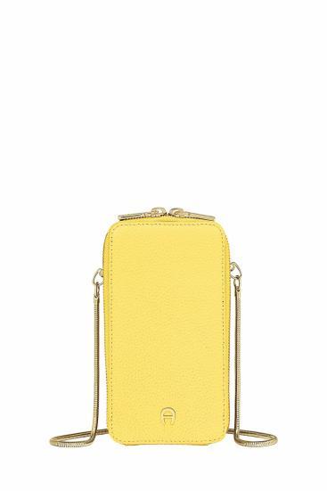 Damen Handy Umhängetasche Gelb