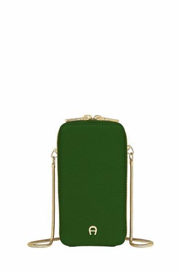 Damen Handy Umhängetasche Grün