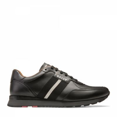 Herren Ledersneaker Aston-New Schwarz