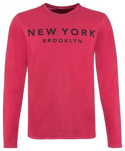 Herren Longsleeve New York Rot