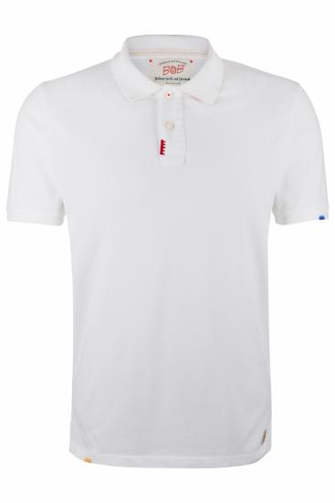 Herren Poloshirt Led Offwhite
