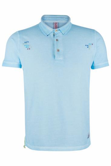 Herren Poloshirt Ricky Prato Azzurro