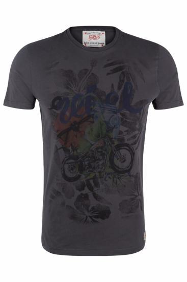 Herren T-Shirt Hell Piombo