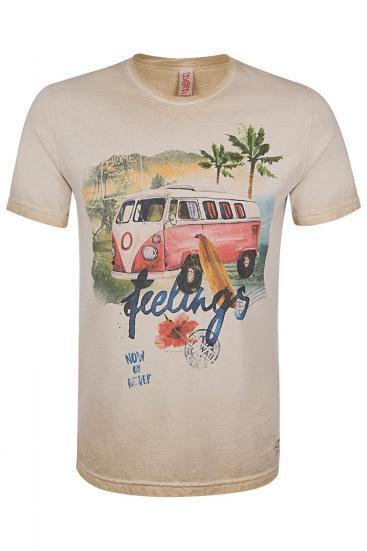 "Herren T-Shirt ""Hell"" Sabbia Tinto Freddo"