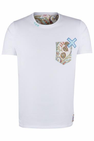 Herren T-Shirt Pock Weiss