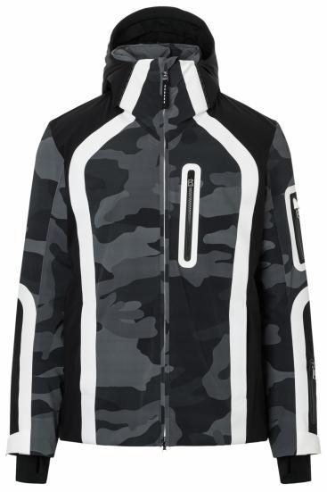 Herren Skijacke Nik-T Camouflage Grau