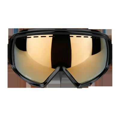 Skibrille Snow Goggles Monochrome Schwarz Gold