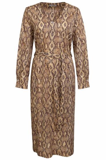Damen Kleid Affra Cognacbraun