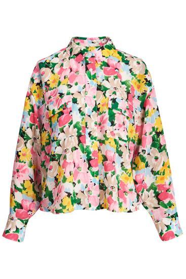 Damen Bluse Zunco mit Blumenprint Multicolor