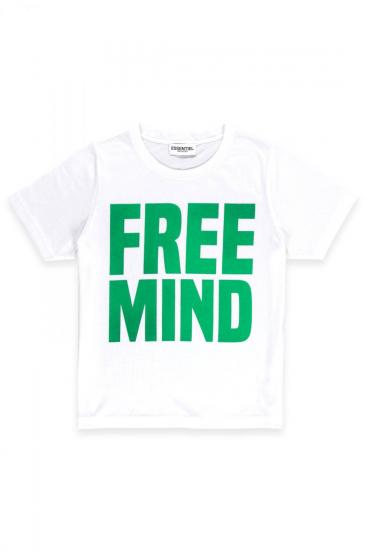 "Damen T-Shirt ""Free Mind"" Weiss"