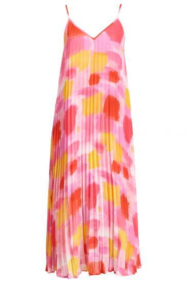 ärmelloses Damen Kleid Zague mit Print Orange/Pink
